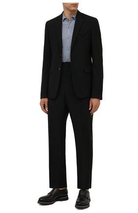 Мужские кожаные монки BERLUTI серого цвета, арт. S5527-001   Фото 2