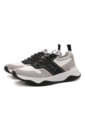Мужские комбинированные кроссовки shadow BERLUTI светло-серого цвета, арт. S5543-001   Фото 1