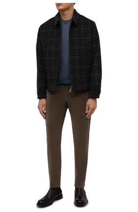 Мужские хлопковые брюки CORNELIANI темно-бежевого цвета, арт. 884L01-1818502/00 | Фото 2