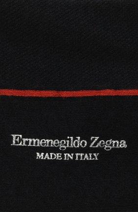 Мужские хлопковые носки ERMENEGILDO ZEGNA темно-синего цвета, арт. N5V024460 | Фото 2