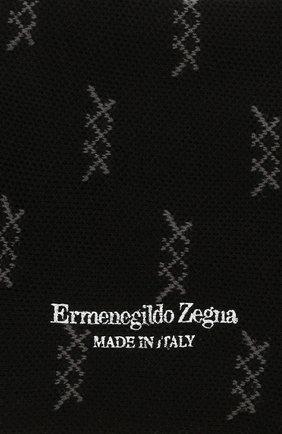 Мужские хлопковые носки ERMENEGILDO ZEGNA черного цвета, арт. N5V024490 | Фото 2