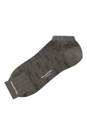 Мужские хлопковые носки ERMENEGILDO ZEGNA светло-серого цвета, арт. N5V024490 | Фото 1