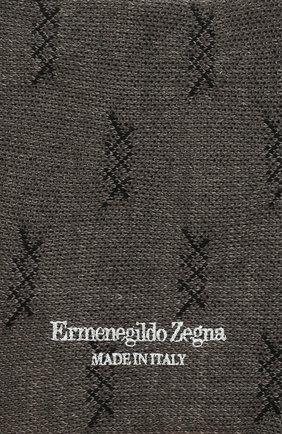Мужские хлопковые носки ERMENEGILDO ZEGNA светло-серого цвета, арт. N5V024490 | Фото 2