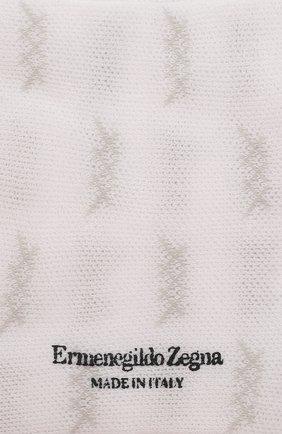 Мужские хлопковые носки ERMENEGILDO ZEGNA белого цвета, арт. N5V024490 | Фото 2