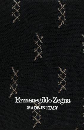 Мужские хлопковые носки ERMENEGILDO ZEGNA темно-синего цвета, арт. N5V024490 | Фото 2