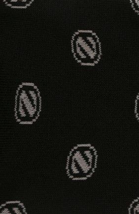 Мужские хлопковые носки ERMENEGILDO ZEGNA черного цвета, арт. N5V024500 | Фото 2