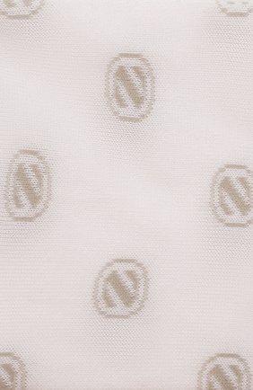 Мужские хлопковые носки ERMENEGILDO ZEGNA белого цвета, арт. N5V024500 | Фото 2