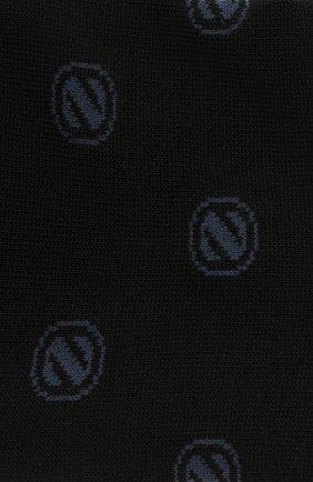 Мужские хлопковые носки ERMENEGILDO ZEGNA темно-синего цвета, арт. N5V024500 | Фото 2