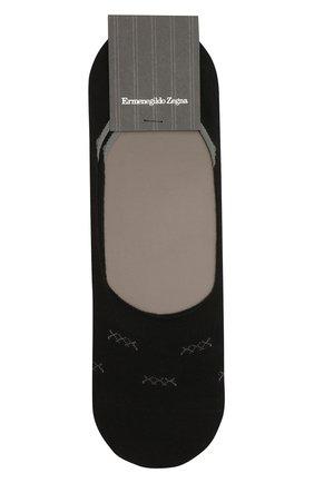 Мужские подследники ERMENEGILDO ZEGNA черного цвета, арт. N5V044530 | Фото 1