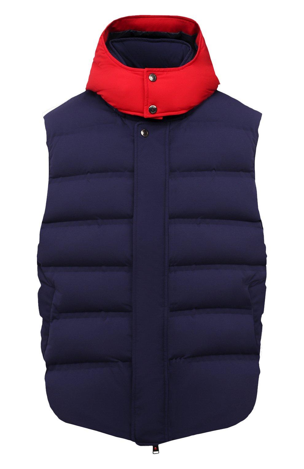 Мужской пуховый жилет KIRED темно-синего цвета, арт. WBREMAW6806518004/62-74 | Фото 1 (Кросс-КТ: Куртка, Пуховик; Big sizes: Big Sizes; Материал внешний: Синтетический материал; Стили: Спорт-шик; Материал подклада: Синтетический материал; Длина (верхняя одежда): Короткие; Материал утеплителя: Пух и перо)