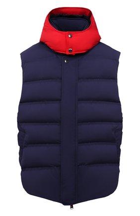 Мужской пуховый жилет KIRED темно-синего цвета, арт. WBREMAW6806518004/62-74 | Фото 1