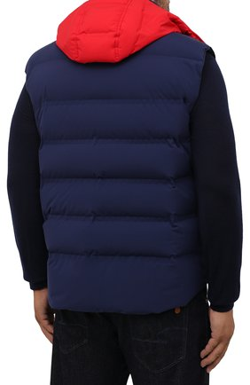 Мужской пуховый жилет KIRED темно-синего цвета, арт. WBREMAW6806518004/62-74 | Фото 4 (Кросс-КТ: Куртка, Пуховик; Big sizes: Big Sizes; Материал внешний: Синтетический материал; Стили: Спорт-шик; Материал подклада: Синтетический материал; Длина (верхняя одежда): Короткие; Материал утеплителя: Пух и перо)