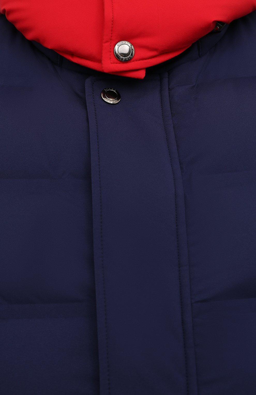 Мужской пуховый жилет KIRED темно-синего цвета, арт. WBREMAW6806518004/62-74 | Фото 5 (Кросс-КТ: Куртка, Пуховик; Big sizes: Big Sizes; Материал внешний: Синтетический материал; Стили: Спорт-шик; Материал подклада: Синтетический материал; Длина (верхняя одежда): Короткие; Материал утеплителя: Пух и перо)