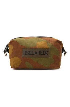 Мужская текстильная сумка DSQUARED2 хаки цвета, арт. CBM0026 168S0074   Фото 1 (Материал: Текстиль; Ремень/цепочка: На ремешке)