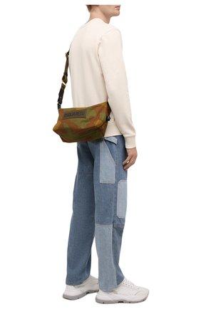 Мужская текстильная сумка DSQUARED2 хаки цвета, арт. CBM0026 168S0074   Фото 2 (Материал: Текстиль; Ремень/цепочка: На ремешке)