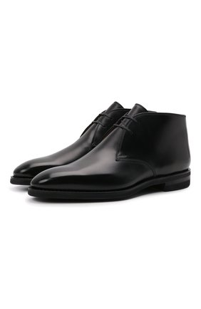 Мужские кожаные ботинки skiligny BALLY черного цвета, арт. SKILIGNY/600 | Фото 1 (Материал внутренний: Натуральная кожа; Мужское Кросс-КТ: Ботинки-обувь, Дезерты-обувь; Подошва: Плоская)