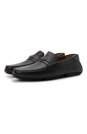 Мужские кожаные мокасины pilgim BALLY черного цвета, арт. PILGIM/450 | Фото 1