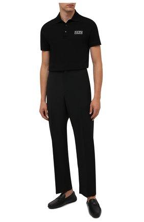 Мужские кожаные мокасины pilgim BALLY черного цвета, арт. PILGIM/450 | Фото 2