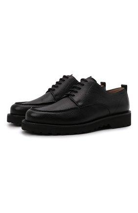 Мужские кожаные дерби norber BALLY черного цвета, арт. N0RBER/110 | Фото 1 (Материал внутренний: Натуральная кожа; Стили: Классический)