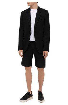 Мужские кожаные кеды mylton BALLY черного цвета, арт. MYLT0N/00 | Фото 2 (Материал внутренний: Натуральная кожа; Подошва: Массивная)