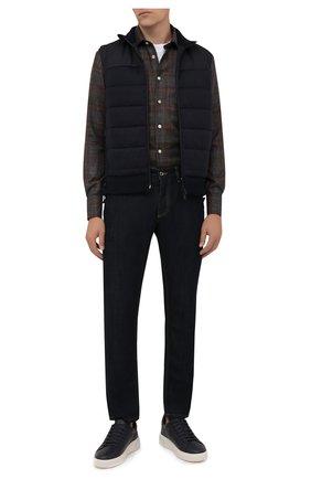 Мужские кожаные кеды miky BALLY темно-синего цвета, арт. MIKY/236 | Фото 2 (Материал внутренний: Натуральная кожа; Подошва: Массивная)