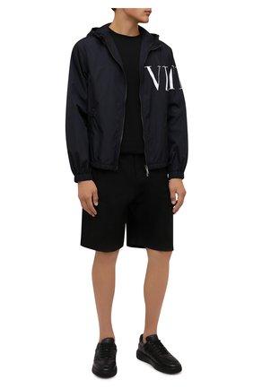 Мужские кожаные кеды maudo BALLY черного цвета, арт. MAUD0/00 | Фото 2 (Материал внутренний: Натуральная кожа; Подошва: Массивная)