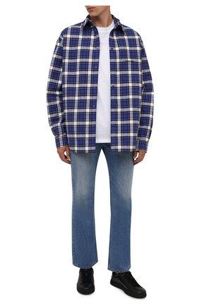 Мужские кожаные кеды KENZO черного цвета, арт. FA65SN171L50 | Фото 2