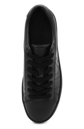 Мужские кожаные кеды KENZO черного цвета, арт. FA65SN171L50 | Фото 5 (Материал внутренний: Натуральная кожа, Текстиль; Подошва: Массивная)