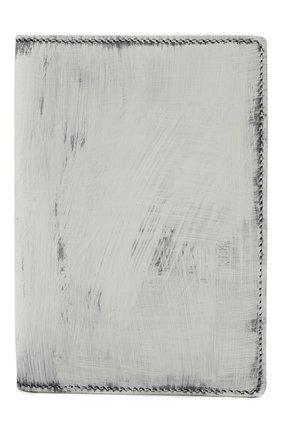 Мужской кожаная обложка для паспорта MAISON MARGIELA белого цвета, арт. S35UI0505/P4268 | Фото 1