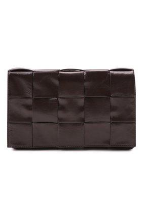 Женская сумка cassette BOTTEGA VENETA коричневого цвета, арт. 667298/VCQ71 | Фото 1 (Материал: Натуральная кожа; Размер: small; Сумки-технические: Сумки через плечо; Ремень/цепочка: На ремешке)