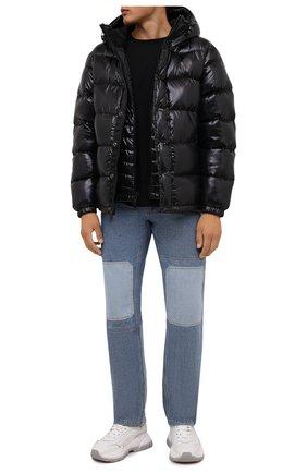 Мужская пуховая куртка POLO RALPH LAUREN черного цвета, арт. 710811909   Фото 2 (Материал внешний: Синтетический материал; Рукава: Длинные; Материал подклада: Синтетический материал; Материал утеплителя: Пух и перо; Длина (верхняя одежда): Короткие; Кросс-КТ: Куртка; Мужское Кросс-КТ: пуховик-короткий; Стили: Кэжуэл)