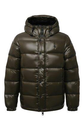 Мужская пуховая куртка POLO RALPH LAUREN хаки цвета, арт. 710811909   Фото 1 (Материал подклада: Синтетический материал; Материал внешний: Синтетический материал; Материал утеплителя: Пух и перо; Кросс-КТ: Куртка; Мужское Кросс-КТ: пуховик-короткий; Рукава: Длинные; Длина (верхняя одежда): Короткие; Стили: Кэжуэл)