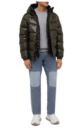 Мужская пуховая куртка POLO RALPH LAUREN хаки цвета, арт. 710811909   Фото 2 (Материал подклада: Синтетический материал; Материал внешний: Синтетический материал; Материал утеплителя: Пух и перо; Кросс-КТ: Куртка; Мужское Кросс-КТ: пуховик-короткий; Рукава: Длинные; Длина (верхняя одежда): Короткие; Стили: Кэжуэл)