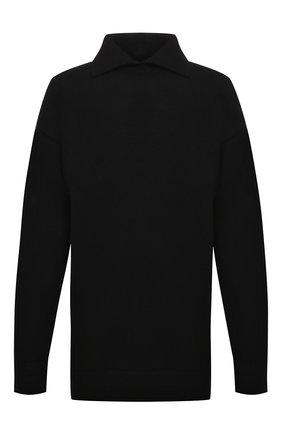 Мужской свитер из шерсти и кашемира JIL SANDER черного цвета, арт. JSMT752033-MTY21638   Фото 1 (Рукава: Длинные; Материал внешний: Шерсть; Длина (для топов): Удлиненные; Мужское Кросс-КТ: Свитер-одежда; Принт: Без принта; Стили: Минимализм)