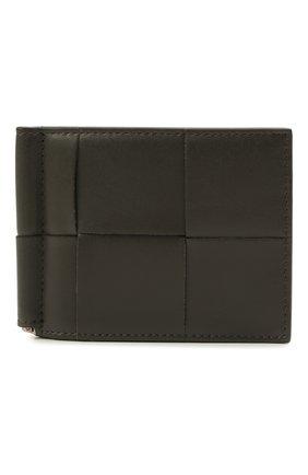 Мужской кожаный зажим для денег BOTTEGA VENETA серого цвета, арт. 667039/VBWD2   Фото 1