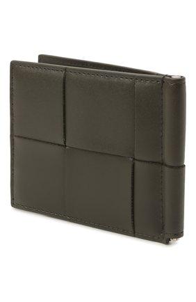 Мужской кожаный зажим для денег BOTTEGA VENETA серого цвета, арт. 667039/VBWD2   Фото 2