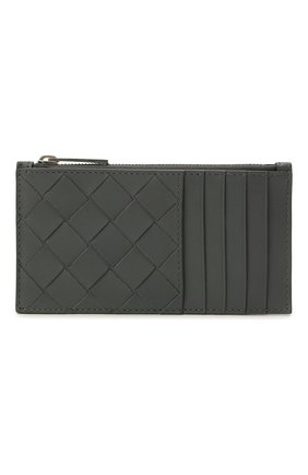 Мужской кожаный футляр для кредитных карт BOTTEGA VENETA серого цвета, арт. 667037/VCPQ3 | Фото 1