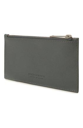 Мужской кожаный футляр для кредитных карт BOTTEGA VENETA серого цвета, арт. 667037/VCPQ3 | Фото 2