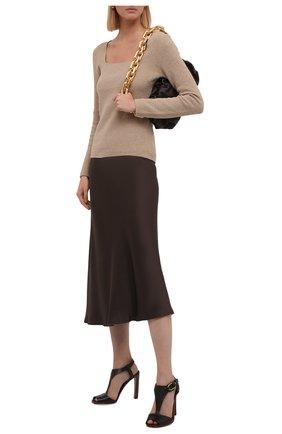 Женские кожаные босоножки emilie RALPH LAUREN черного цвета, арт. 800841323 | Фото 2 (Материал внутренний: Натуральная кожа; Подошва: Плоская; Каблук тип: Устойчивый; Каблук высота: Высокий)