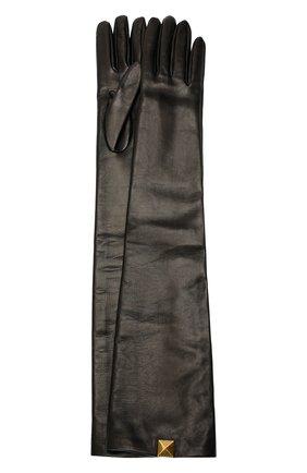 Женские кожаные перчатки VALENTINO темно-коричневого цвета, арт. WW2GCA19/TMD | Фото 1