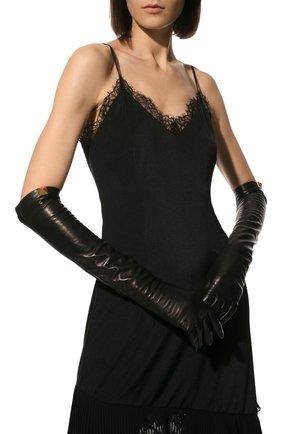 Женские кожаные перчатки VALENTINO темно-коричневого цвета, арт. WW2GCA19/TMD | Фото 2