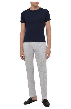 Мужская комплект из двух футболок POLO RALPH LAUREN темно-синего цвета, арт. 714835960   Фото 2 (Материал внешний: Хлопок; Кросс-КТ: домашняя одежда; Рукава: Короткие; Длина (для топов): Стандартные)