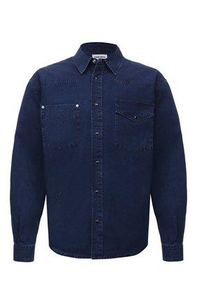 Мужская джинсовая рубашка KENZO синего цвета, арт. FB65DC4201LG | Фото 1