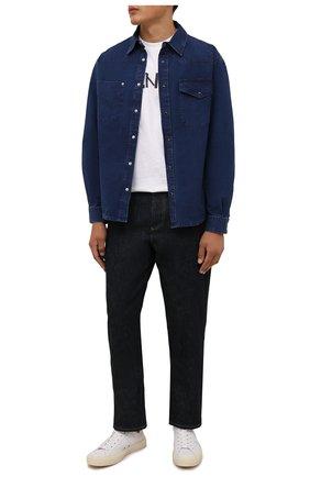 Мужская джинсовая рубашка KENZO синего цвета, арт. FB65DC4201LG | Фото 2