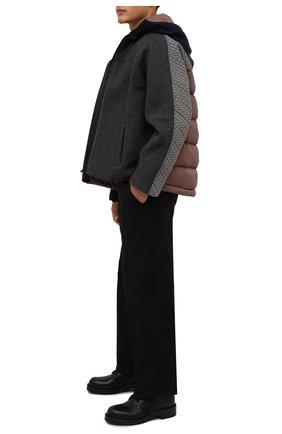 Мужская шерстяная куртка VALENTINO разноцветного цвета, арт. WV3CIK207LV | Фото 2 (Рукава: Длинные; Материал внешний: Шерсть; Материал подклада: Синтетический материал; Длина (верхняя одежда): Короткие; Кросс-КТ: Куртка; Мужское Кросс-КТ: шерсть и кашемир; Стили: Кэжуэл)