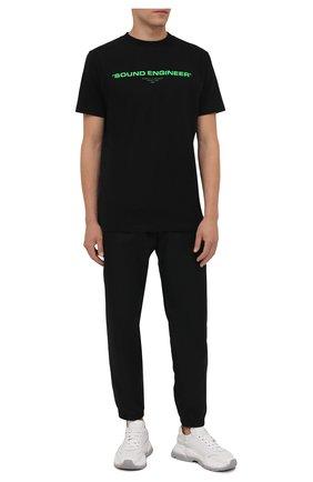 Мужская хлопковая футболка OFF-WHITE черного цвета, арт. 0MAA027G21JER002 | Фото 2