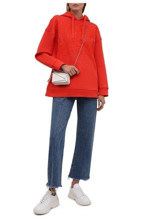 Женский хлопковое худи VALENTINO оранжевого цвета, арт. WB3MF11M6K6   Фото 2 (Материал внешний: Хлопок; Рукава: Длинные; Длина (для топов): Стандартные; Стили: Спорт-шик; Женское Кросс-КТ: Худи-одежда)