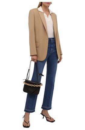 Женские джинсы VALENTINO синего цвета, арт. WB3DD12E7C6   Фото 2 (Длина (брюки, джинсы): Стандартные; Материал внешний: Хлопок; Стили: Гламурный; Кросс-КТ: Деним; Силуэт Ж (брюки и джинсы): Прямые)