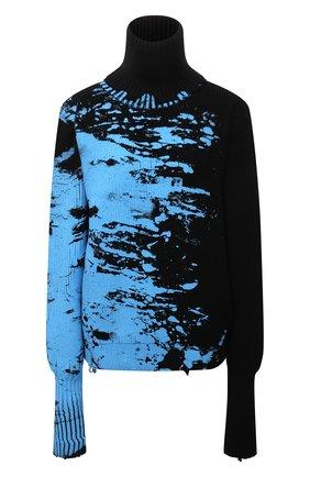 Мужской шерстяной свитер VETEMENTS разноцветного цвета, арт. UA52KN840B 2901/M | Фото 1 (Материал внешний: Шерсть; Длина (для топов): Стандартные; Рукава: Длинные; Мужское Кросс-КТ: Свитер-одежда; Принт: С принтом; Стили: Гранж)