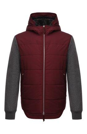 Мужская утепленная куртка ANDREA CAMPAGNA бордового цвета, арт. 00801H9RE2900 | Фото 1